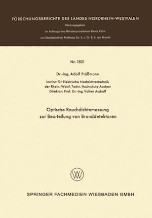 Optische Rauchdichtemessung zur Beurteilung von Branddetektoren af Adolf Prussmann