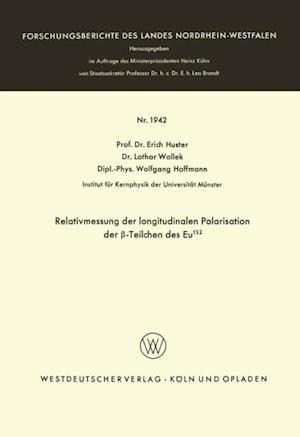 Relativmessung der longitudinalen Polarisation der -Teilchen des Eu152