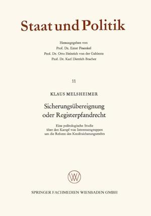 Sicherungsubereignung oder Registerpfandrecht af Klaus Melsheimer