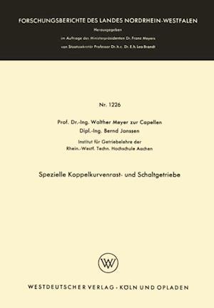 Spezielle Koppelkurvenrast- und Schaltgetriebe af Walther Meyer Zur Capellen