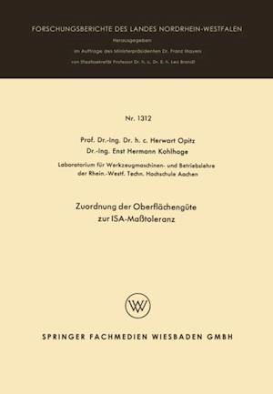 Zuordnung der Oberflachengute zur ISA-Matoleranz af Herwart Opitz