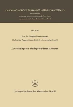 Zur Fruhdiagnose infarktgefahrdeter Menschen af Siegfried Niedermeier