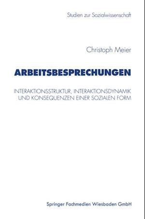 Arbeitsbesprechungen af Christoph Meier