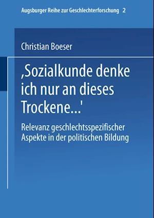 Bei Sozialkunde denke ich nur an dieses Trockene ...' af Christian Boeser
