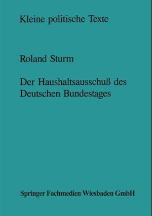 Der Haushaltsausschu des Deutschen Bundestages af Roland Sturm