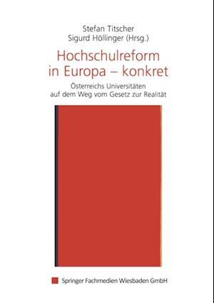 Hochschulreform in Europa - konkret