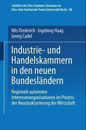 Industrie- und Handelskammern in den neuen Bundeslandern af Diederich Niels, Ingeborg Haag, Georg Cadel
