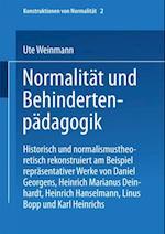 Normalitat und Behindertenpadagogik af Ute Weinmann