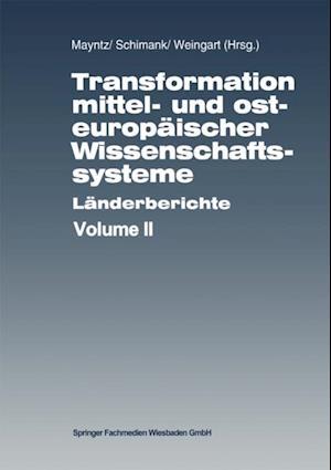 Transformation mittel- und osteuropaischer Wissenschaftssysteme