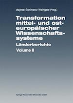 Transformation Mittel- Und Osteuropäischer Wissenschaftssysteme