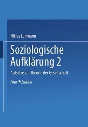 Soziologische Aufklarung 2 af Niklas Luhmann