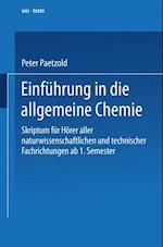 Einfuhrung in die allgemeine Chemie
