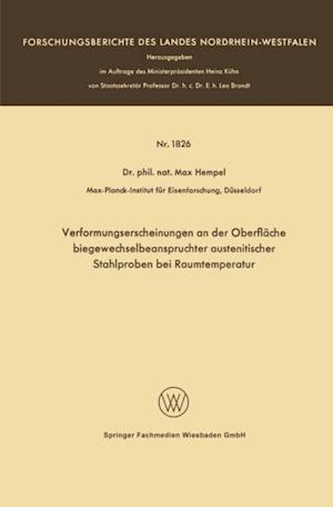 Verformungserscheinungen an der Oberflache biegewechselbeanspruchter austenitischer Stahlproben bei Raumtemperatur af Max Hempel