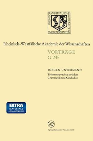 Trummersprachen zwischen Grammatik und Geschichte af Jurgen Untermann