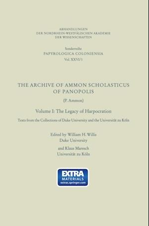 Archive of Ammon Scholasticus of Panopolis