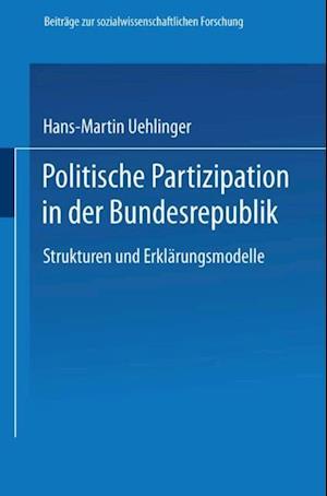 Politische Partizipation in der Bundesrepublik af Hans-Martin Uehlinger