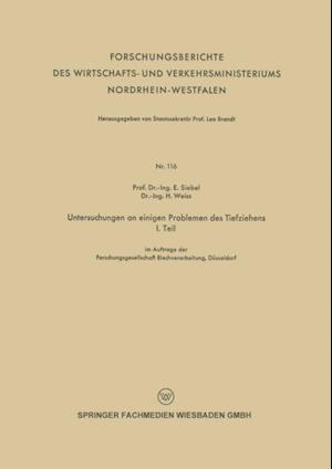 Untersuchungen an einigen Problemen des Tiefziehens af H. Weiss, E. Siebel