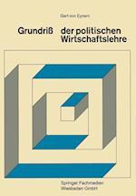 Grundriss Der Politischen Wirtschaftslehre af Gert Eynern