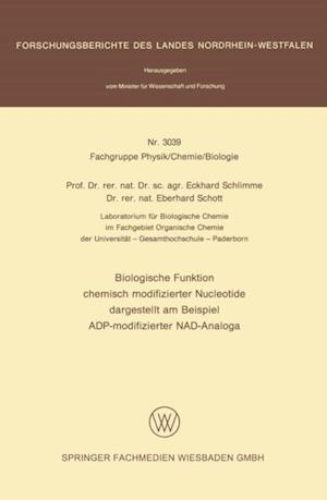 Biologische Funktion chemisch modifizierter Nucleotide dargestellt am Beispiel ADP-modifizierter NAD-Analoga