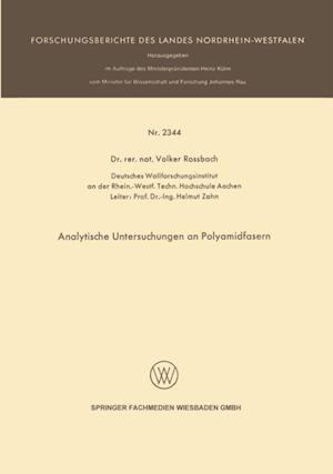 Analytische Untersuchungen an Polyamidfasern af Volker Rossbach