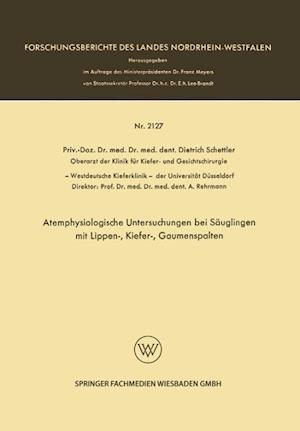 Atemphysiologische Untersuchungen Bei Säuglingen Mit Lippen-, Kiefer-, Gaumenspalten