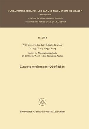 Zundung kondensierter Oberflachen af Fritz Schultz-Grunow
