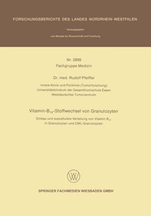 Vitamin-B12-Stoffwechsel von Granulozyten af Rudolf Pfeiffer