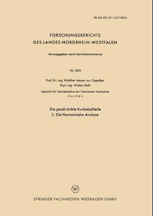 Die geschrankte Kurbelschleife af Walther Meyer Capellen