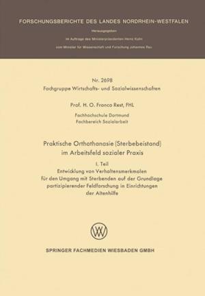 Praktische Orthothanasie (Sterbebeistand) im Arbeitsfeld sozialer Praxis af Franco Rest