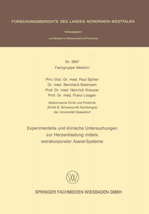 Experimentelle und klinische Untersuchungen zur Herzentlastung mittels extrakorporaler Assistsysteme af Franz Loogen, Paul Spiller, Bernhard Bostroem