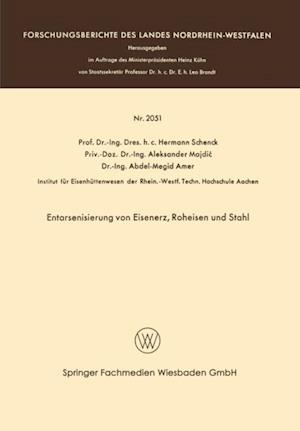 Entarsenisierung von Eisenerz, Roheisen und Stahl af Hermann Rudolf Schenck