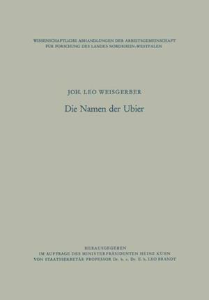 Die Namen der Ubier af Joh. Leo Weisgerber