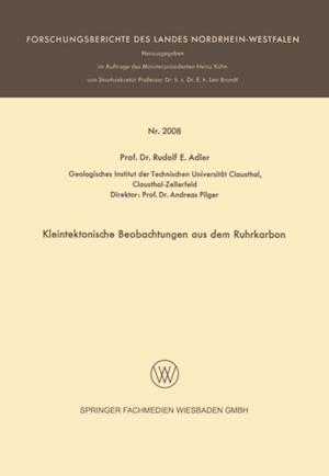 Kleintektonische Beobachtungen aus dem Ruhrkarbon af Rudolf E. Adler