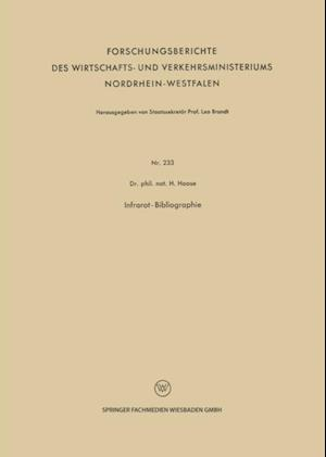 Infrarot-Bibliographie af H. Haase
