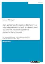 Hart Gefuhrter Zweikampf. Einfluss Von Subkategorialem Ambush Marketing Und Exklusivem Sponsoring Auf Die Markenwahrnehmung