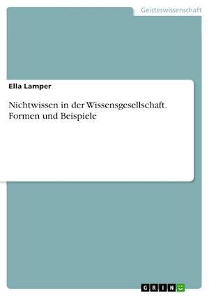 Bog, paperback Nichtwissen in Der Wissensgesellschaft. Formen Und Beispiele af Ella Lamper