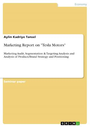 Bog, paperback Marketing Report on Tesla Motors af Aylin Kadriye Tansel