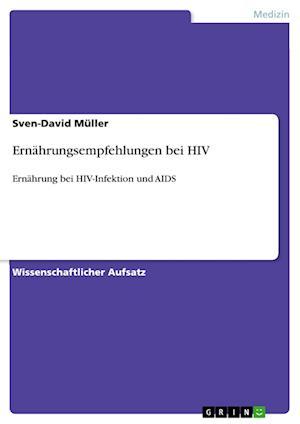 Bog, paperback Ernahrungsempfehlungen Bei HIV af Sven-David Muller
