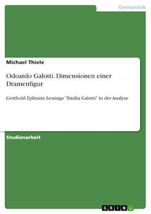 Bog, paperback Odoardo Galotti. Dimensionen Einer Dramenfigur af Michael Thiele