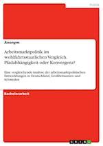 Arbeitsmarktpolitik Im Wohlfahrtsstaatlichen Vergleich. Pfadabhangigkeit Oder Konvergenz?