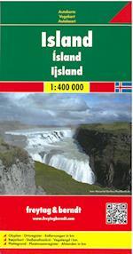 Island/Iceland, Freytag & Berndt Autokarte 1:400 000 (Freytag & Berndt Road Map)