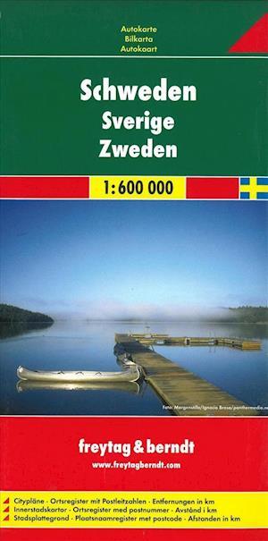 Sweden Road Map 1:600 000