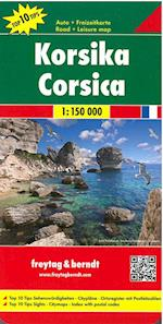 Korsika - Corsica Road + Leisure Map (Freytag & Berndt Road + Leisure Map)