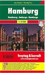 Hamburg City Pocket + The Big Five (Freytag & Berndt city map)