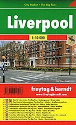 Liverpool, Freytag & Berndt Pocket Map 1:10.000
