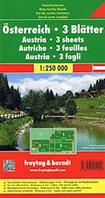 Austria: 3 sheets, Freytag & Berndt Map Set for Roads (Freytag & Berndt Road Map)