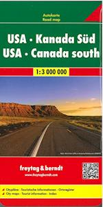 USA & Canada South - USA & Kanada Süd, Freytag & Berndt Road Map (Freytag & Berndt Road Map)