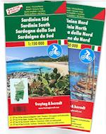 Sardinia Road & Cycle Route Set (Freytag & Berndt Road Map)