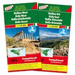 Sicily Road & Cycle Route Set (Freytag & Berndt Road + Leisure Map)