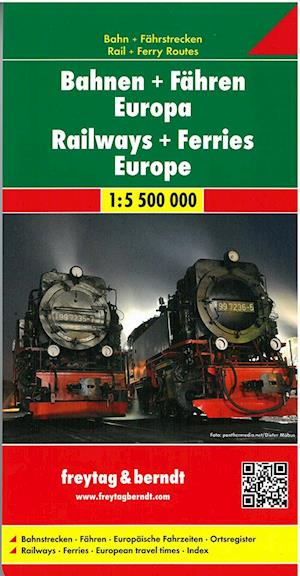 Bog, falset Railways + Ferries Europe af Berndt, Freytag